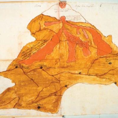 Mappa eruzione Etna 1634