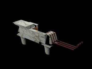 Fig. 9 – Ricostruzione 3D di piattabanda armata (G.F. Giuliani).
