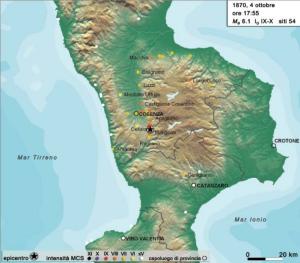 TERREMOTO 1870 Calabria settentrionale - Cosentino