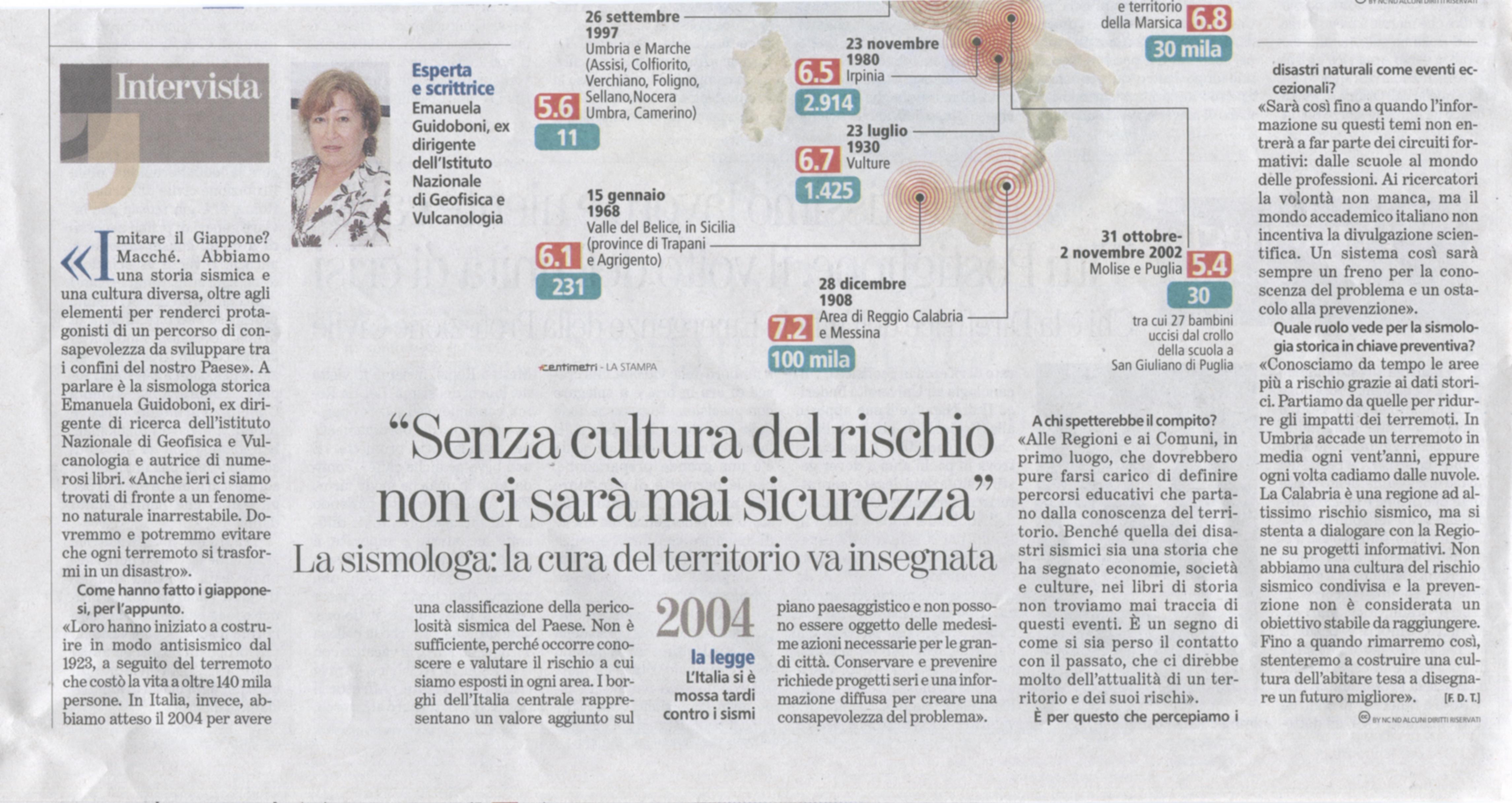EG. Interv. La Stampa 25 ag.2016